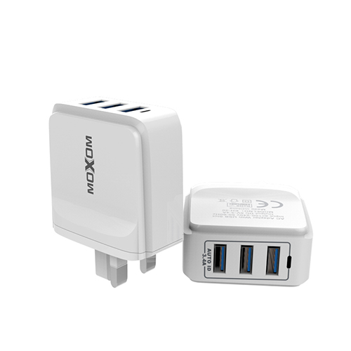 Adaptive USB Charger With 3 Ports 3.4A Fast Charging