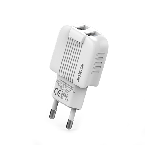 EU Plug Adapter Charger Mobile Phone Charger Dual Port USB Charger 5V 2.4A Wall Charger