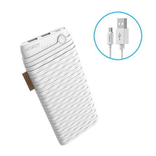Weave Design PowerBank 10000 mah Portable Dual USB Power Bank With Micro Cable