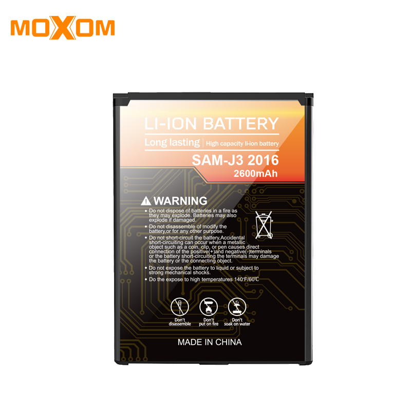 Replacement Battery 2600mah For Samsung J3 2016 Mobile Phone