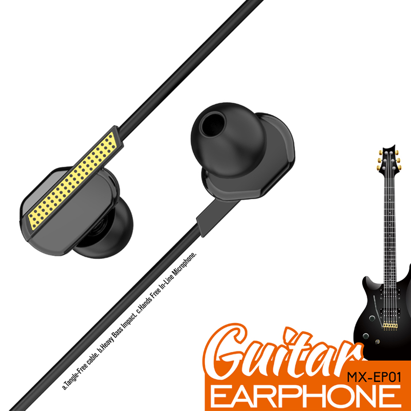 Wired In-Ear Metal Earphone Earbuds With Mic Headphone